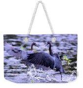 Heron Encounter - Battle - Fight Weekender Tote Bag