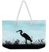 Heron Has Supper Weekender Tote Bag