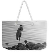 Heron In Black And White Weekender Tote Bag