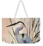 Heron In Tall Grass Weekender Tote Bag