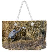Heron In The Grass Weekender Tote Bag