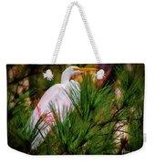 Heron In The Pines Weekender Tote Bag