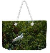 Heron In Tree Weekender Tote Bag