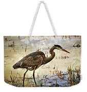 Heron On A Cloudy Day Weekender Tote Bag