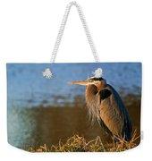 Heron On The Lake Weekender Tote Bag