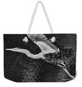 Heron On The Move Up Close Weekender Tote Bag