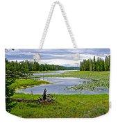 Heron Pond In Grand Teton National Park-wyoming   Weekender Tote Bag