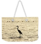 Heron Standing In Water Weekender Tote Bag