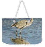 Heron Walking Through The Water. Weekender Tote Bag