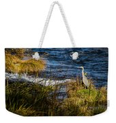 Heron Watchful Eye Weekender Tote Bag