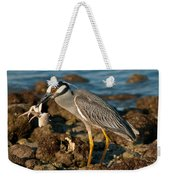 Heron With Crab Weekender Tote Bag