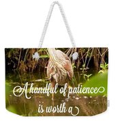 Heron With Quote Photograph  Weekender Tote Bag
