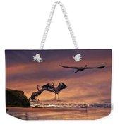 Herons At Sunset Weekender Tote Bag