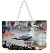 Herring Gull At The Harbour Weekender Tote Bag