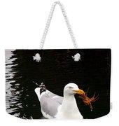Herring Gull With Crab Weekender Tote Bag