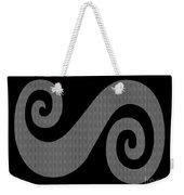 Herringbone Swirl On Black Weekender Tote Bag