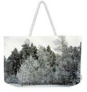 Hersey Lake Under Snow Weekender Tote Bag