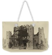 Hever Castle Yellow Plate Weekender Tote Bag by Chris Thaxter
