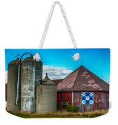 Hexagon Quilt Barn Weekender Tote Bag