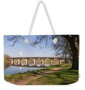 Hexham Bridge And Riverside Path Weekender Tote Bag