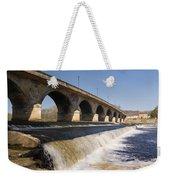 Hexham Bridge And Weir Weekender Tote Bag