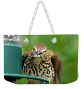 Hey I'm Trying To Eat Here Weekender Tote Bag
