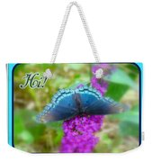 Hi Hello Greeting Card - Red Spotted Purple Butterfly Weekender Tote Bag