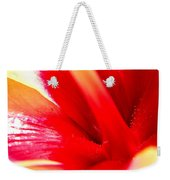 Hibiscus Abstract In Red And Yellow Weekender Tote Bag