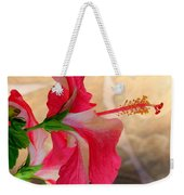 Hibiscus Along The Walk Way Weekender Tote Bag