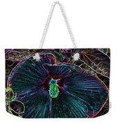 Hibiscus At Midnight Weekender Tote Bag
