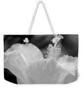 Hibiscus Bw Weekender Tote Bag