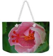 Hibiscus Flower Blooming Weekender Tote Bag