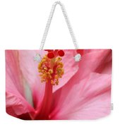 Hibiscus Flower Close Up Weekender Tote Bag