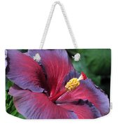 Hibiscus Night Fire Weekender Tote Bag