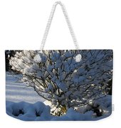 Hibiskus In The Wintertime Weekender Tote Bag