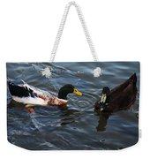 Hibred Ducks Swimming In Beech Fork Lake Weekender Tote Bag