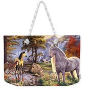 Hidden Images - Horses Weekender Tote Bag by Steve Read