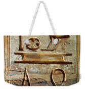 Hieroglyphics At Amada Weekender Tote Bag