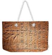 Hieroglyphs In The Temple Of Kalabsha  Weekender Tote Bag