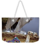 High Angle View Of A Camel Resting Weekender Tote Bag