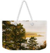 High Angle View Of A River, Ausable Weekender Tote Bag