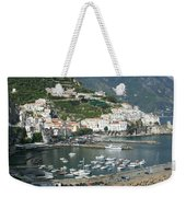 High Angle View Of A Town, Amalfi Weekender Tote Bag