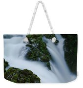 High Angle View Of A Waterfall, Sol Duc Weekender Tote Bag