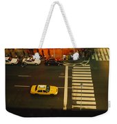 High Angle View Of Cars At A Zebra Weekender Tote Bag