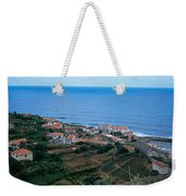 High Angle View Of Houses At A Coast Weekender Tote Bag