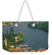 High Angle View Of Houses Weekender Tote Bag