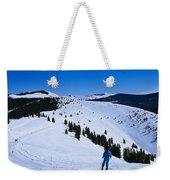 High Angle View Of Skiers Skiing, Vail Weekender Tote Bag