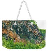 High Cliffs Along River Kwai In Kanchanaburi-thailand Weekender Tote Bag