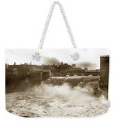 High Falls On The Genesee River Rochester New York At Flood Stage Circa 1904 Weekender Tote Bag