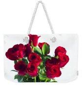 High Key Red Roses Weekender Tote Bag